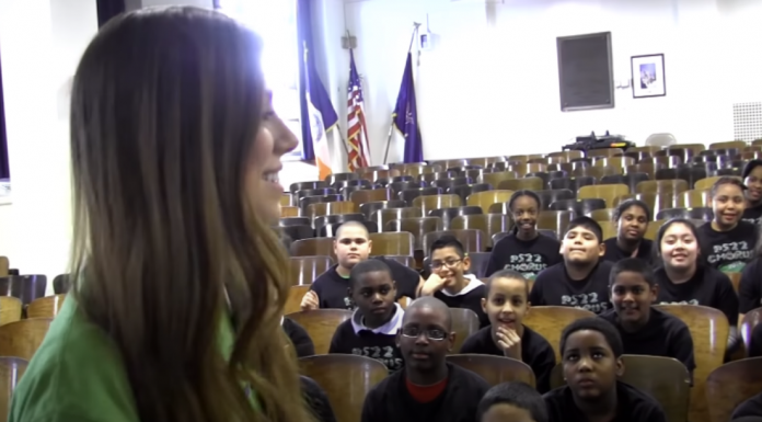 Christina Perri sings with PS22 Chorus