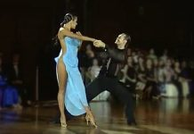 Slavik Kryklyvvy Elena Khorova Rumba dancers blue dress