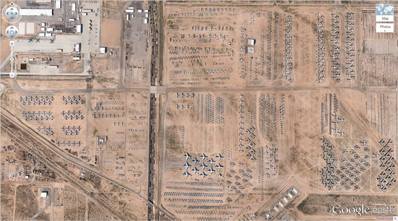 airplane-boneyard-tucson-arizona-google-earth