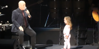 Billy Joel daughter little girl Della Rose singing on stage