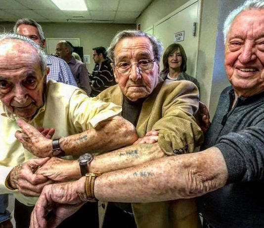 Holocaust survivors in same line at Auschwitz share tattoos