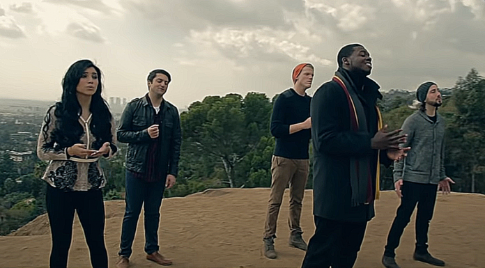 pentatonix-little-drummer-boy-outside-mountains-video-featured-image
