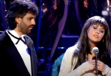 Andrea Bocelli Sarah Brightman Time to Say Goodbye first performance
