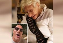 The Rock sends 100 year old fan on her birthday